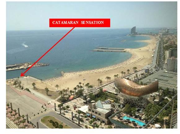 catamaran sensation barcelona informacion